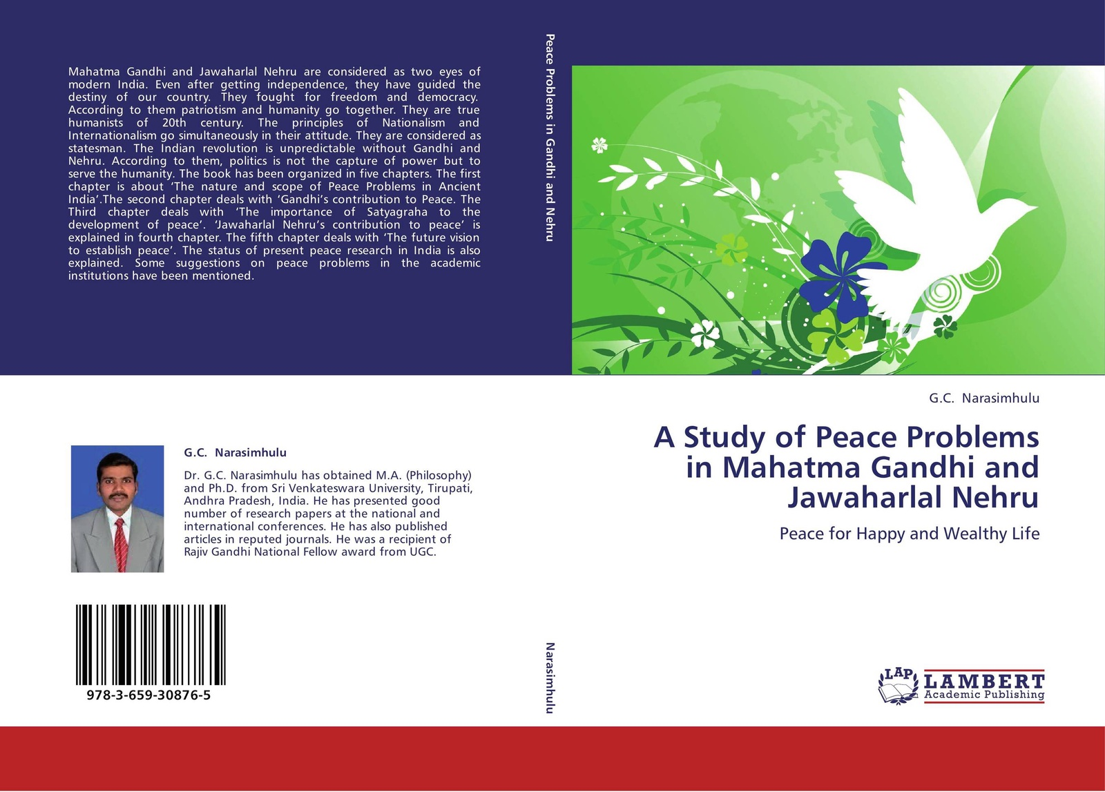 G.C. Narasimhulu A Study of Peace Problems in Mahatma Gandhi and Jawaharlal Nehru gandhi mahatma third class in indian railways