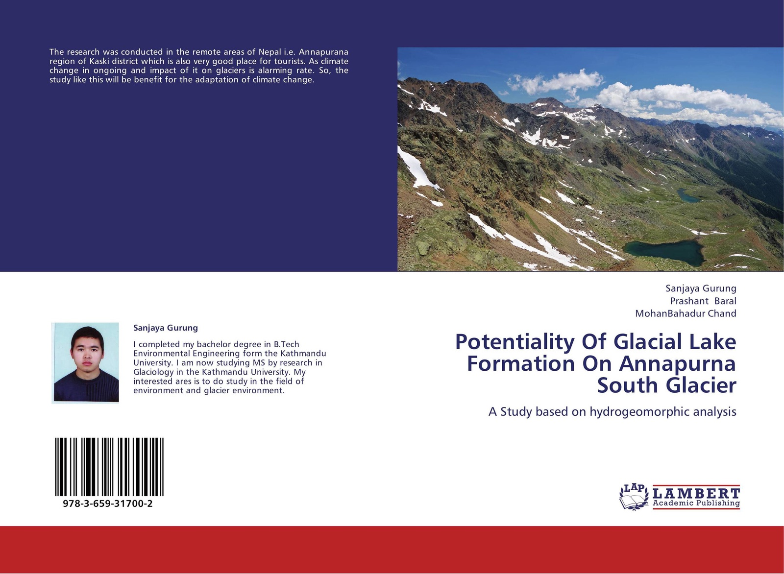 Sanjaya Gurung,Prashant Baral and MohanBahadur Chand Potentiality Of Glacial Lake Formation On Annapurna South Glacier ana lopez modelling the impact of climate change on water resources