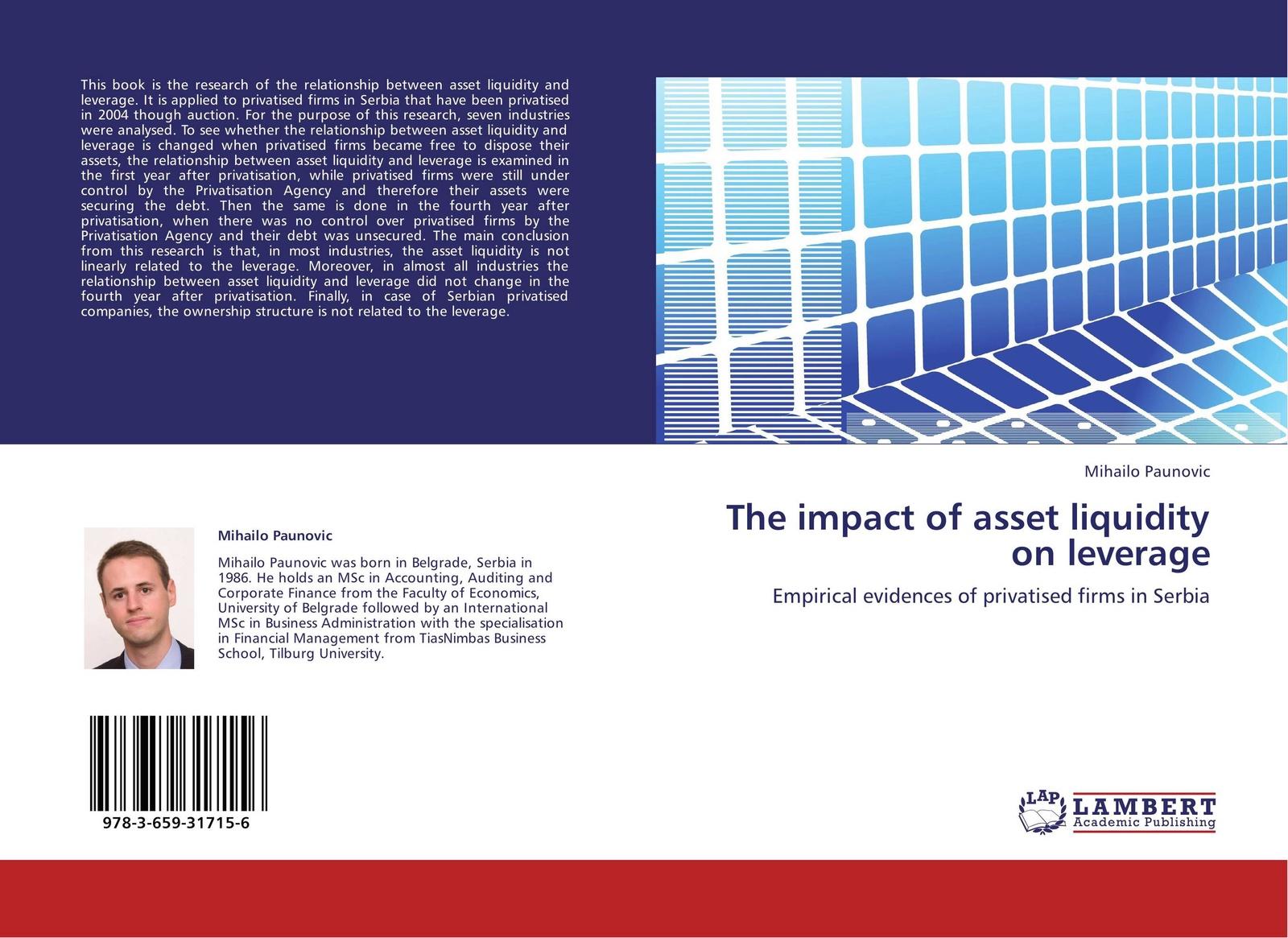 Mihailo Paunovic The impact of asset liquidity on leverage цена