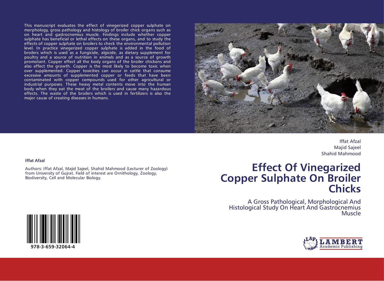 Iffat Afzal,Majid Sajeel and Shahid Mahmood Effect Of Vinegarized Copper Sulphate On Broiler Chicks