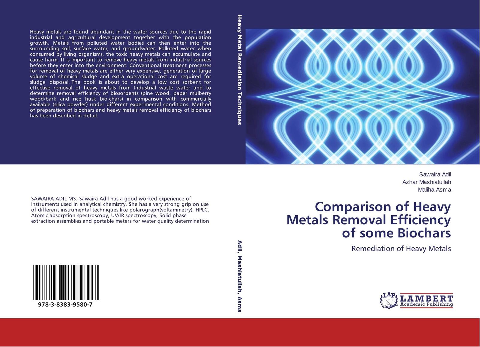 цены на Sawaira Adil,Azhar Mashiatullah and Maliha Asma Comparison of Heavy Metals Removal Efficiency of some Biochars  в интернет-магазинах