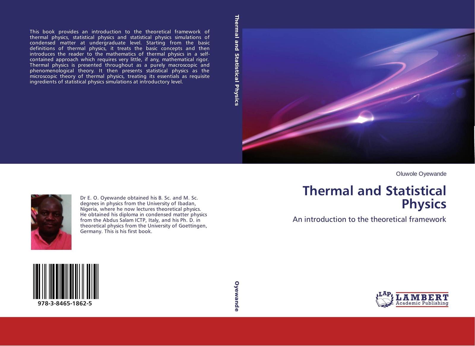 Oluwole Oyewande Thermal and Statistical Physics statistical physics and thermodynamics