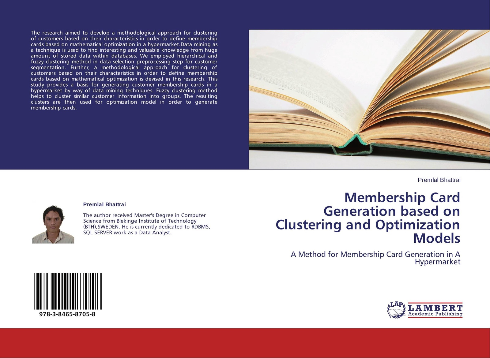 Premlal Bhattrai Membership Card Generation based on Clustering and Optimization Models цены