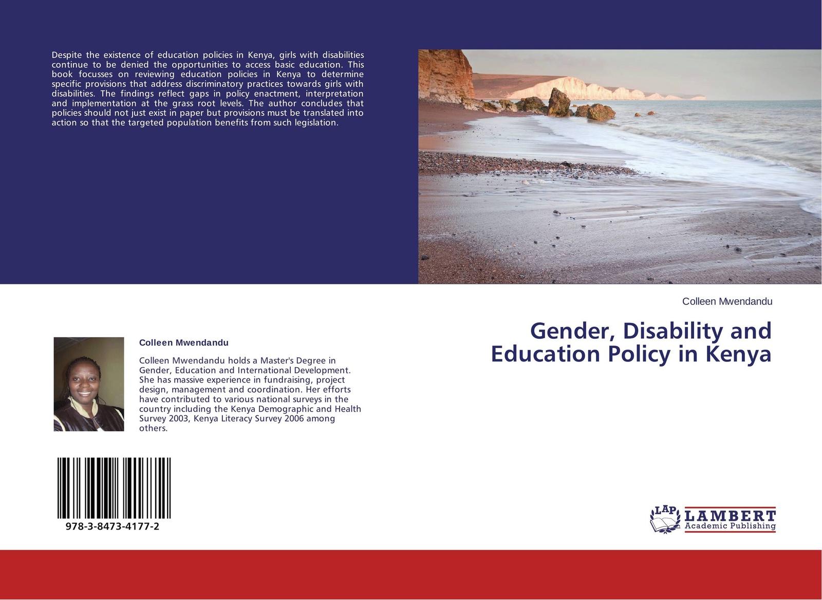 Colleen Mwendandu Gender, Disability and Education Policy in Kenya joseph lelan inclusive education in kenya