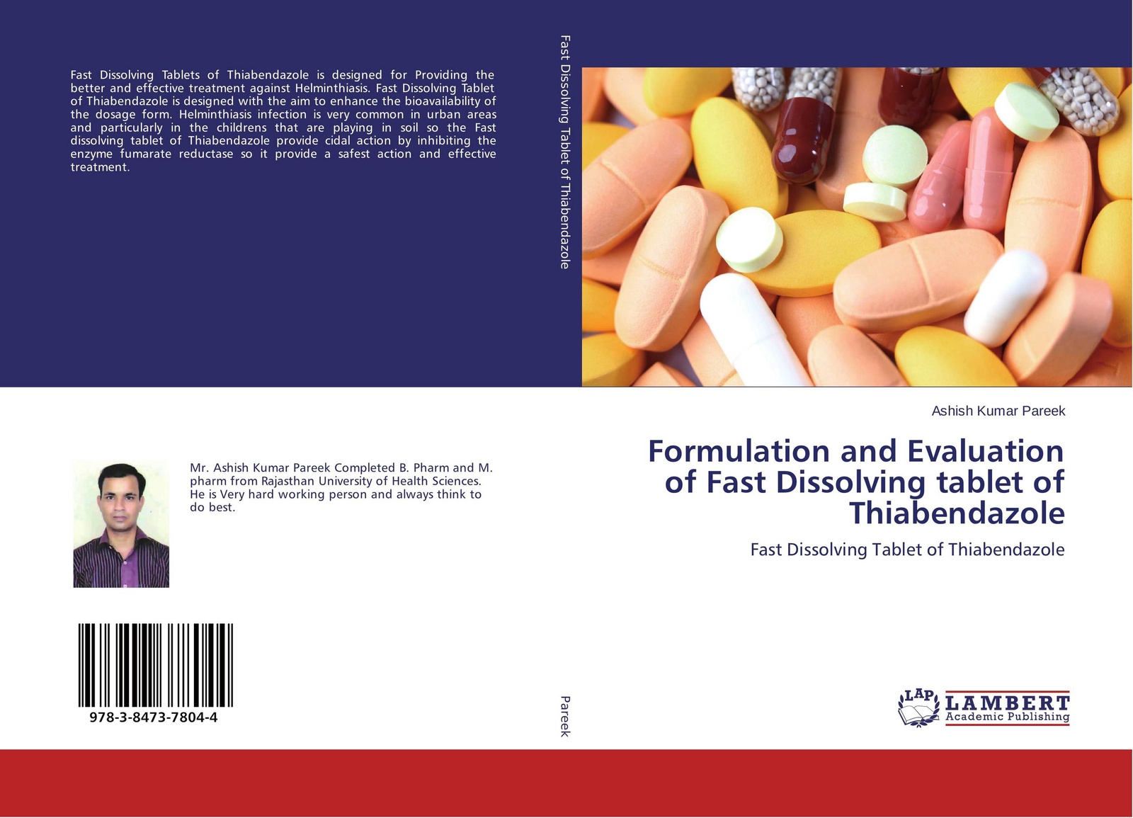 купить Ashish Kumar Pareek Formulation and Evaluation of Fast Dissolving tablet of Thiabendazole по цене 4983 рублей
