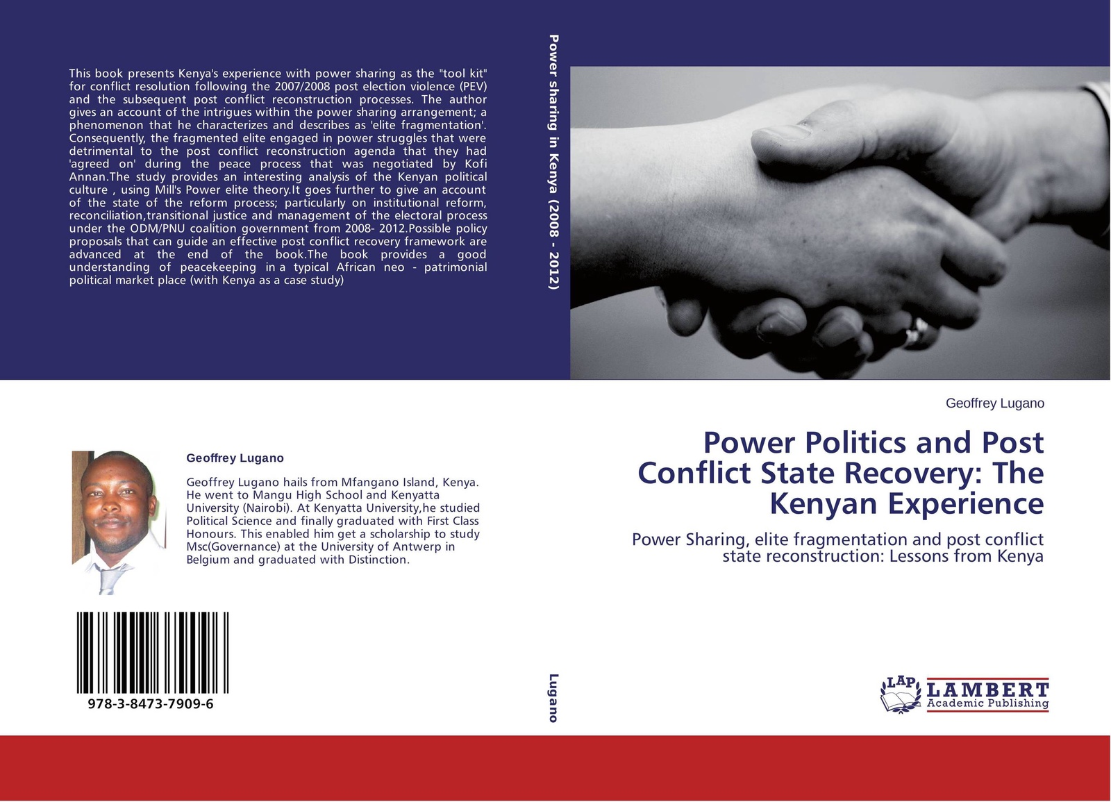 Geoffrey Lugano Power Politics and Post Conflict State Recovery: The Kenyan Experience post conflict peace building of united nations in kenya