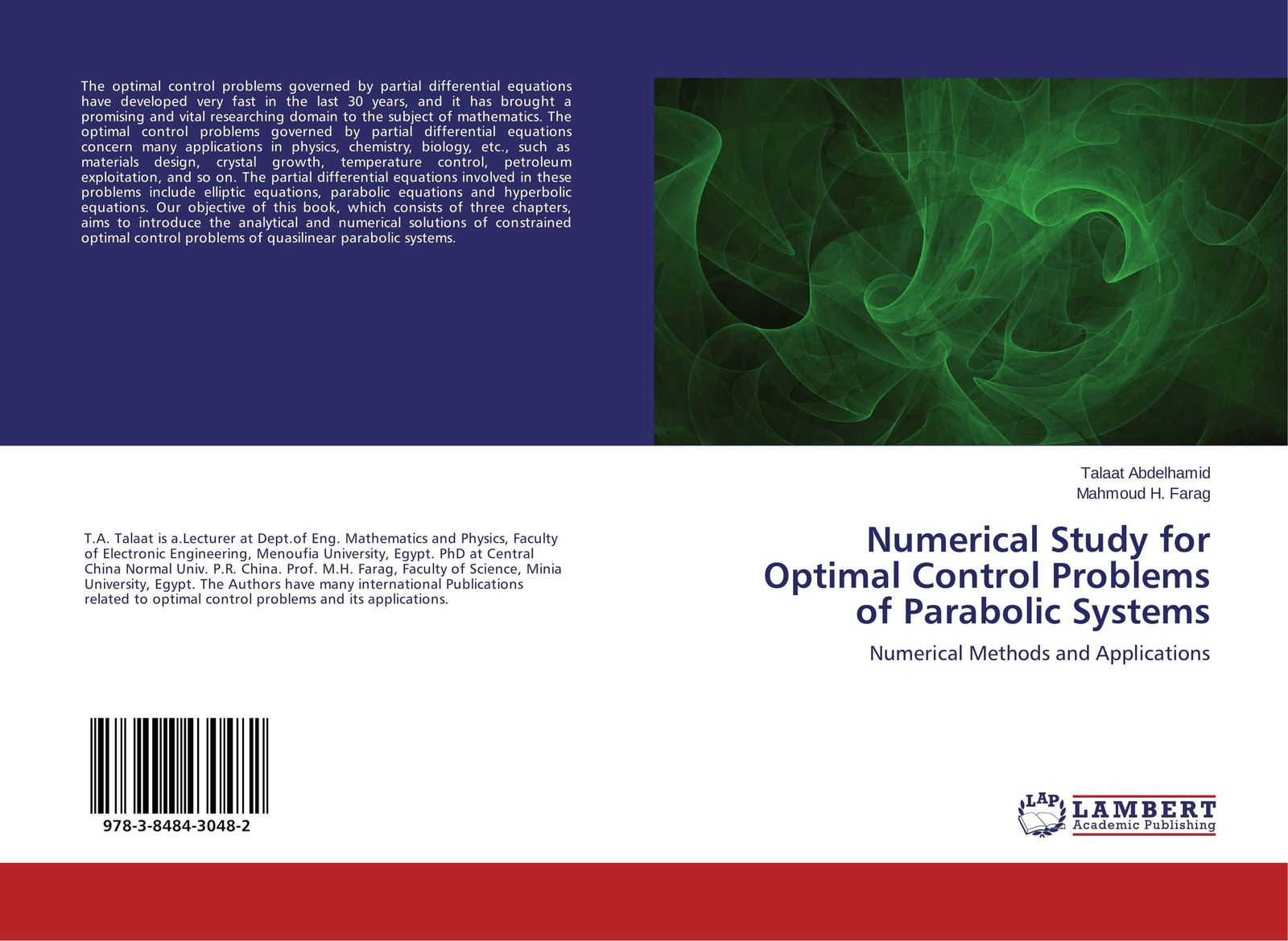 цены на Talaat Abdelhamid and Mahmoud H. Farag Numerical Study for Optimal Control Problems of Parabolic Systems  в интернет-магазинах
