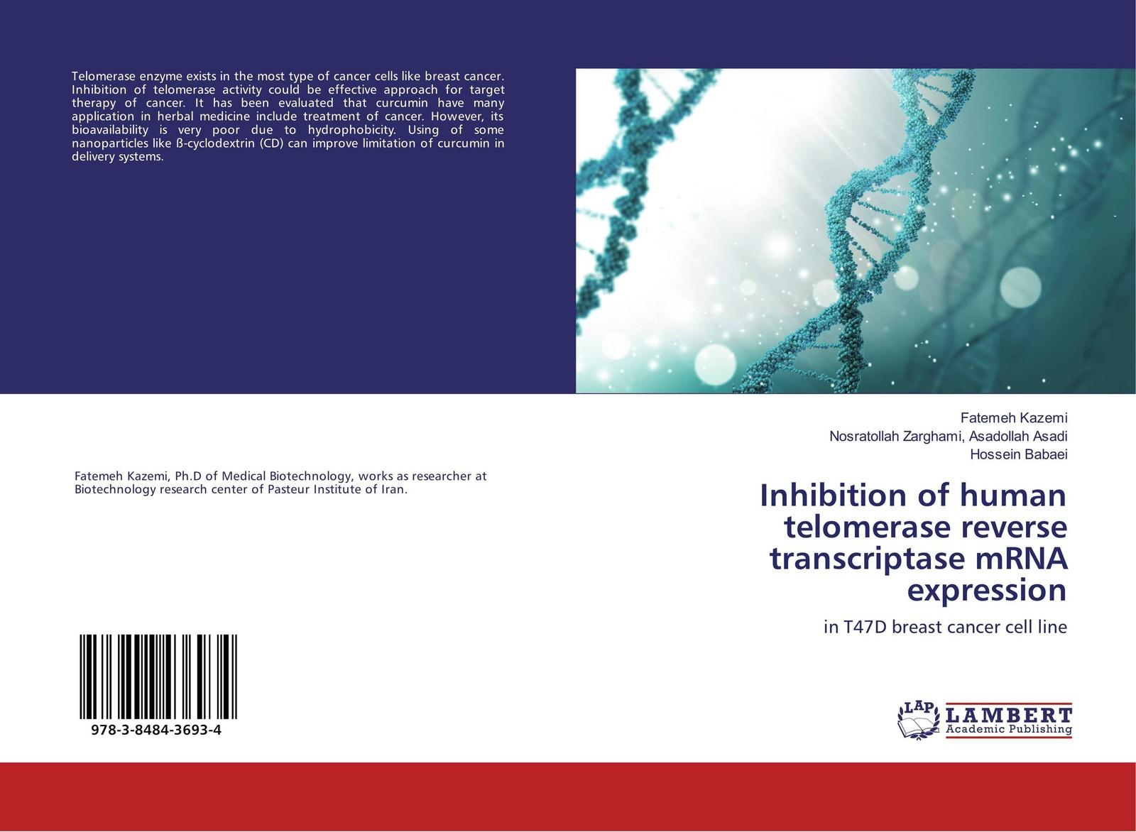 Fatemeh Kazemi,Nosratollah Zarghami, Asadollah Asadi and Hossein Babaei Inhibition of human telomerase reverse transcriptase mRNA expression curcumin 98