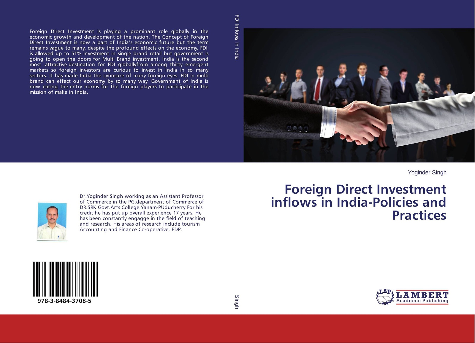 Yoginder Singh Foreign Direct Investment inflows in India-Policies and Practices andreas epperlein foreign direct investment in ireland under consideration of the financial services sector in particular