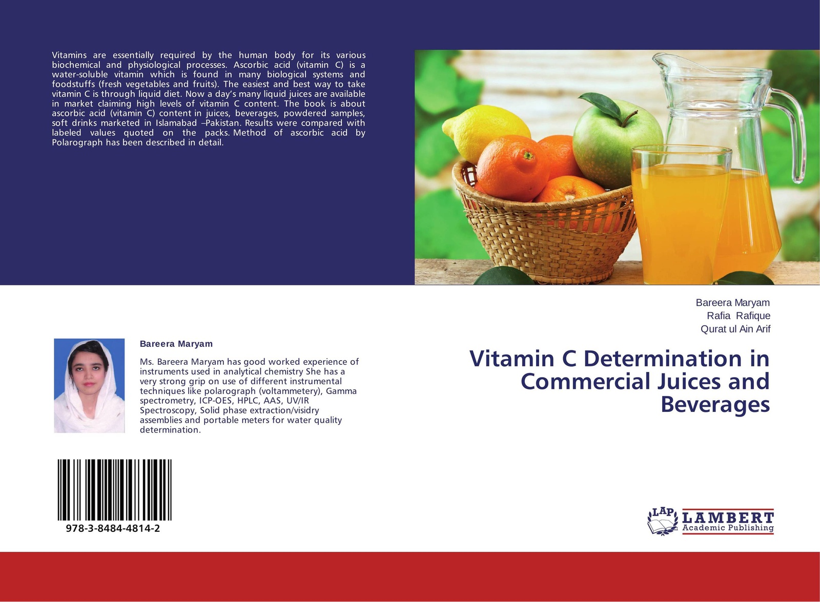 цена на Bareera Maryam,Rafia Rafique and Qurat ul Ain Arif Vitamin C Determination in Commercial Juices and Beverages