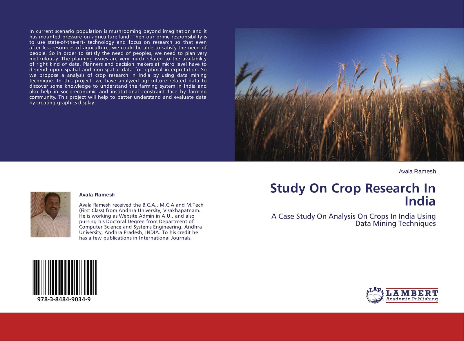 Avala Ramesh Study On Crop Research In India spatial data integration