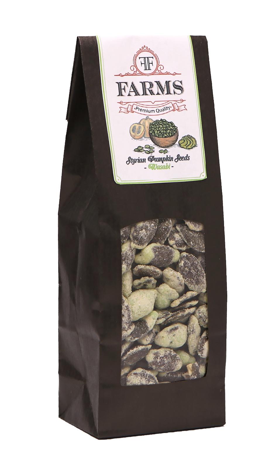 Штирийские тыквенные семечки в глазури Васаби FF Farms, 100 гр