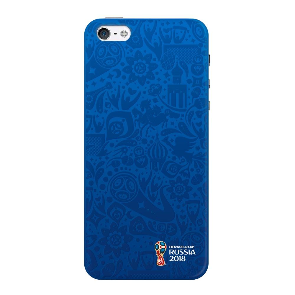 Чехол для Apple iPhone 5/5S/SE, FIFA Official Pattern blue, Deppa чехол fifa 2018 official pattern red для iphone 5 5s se