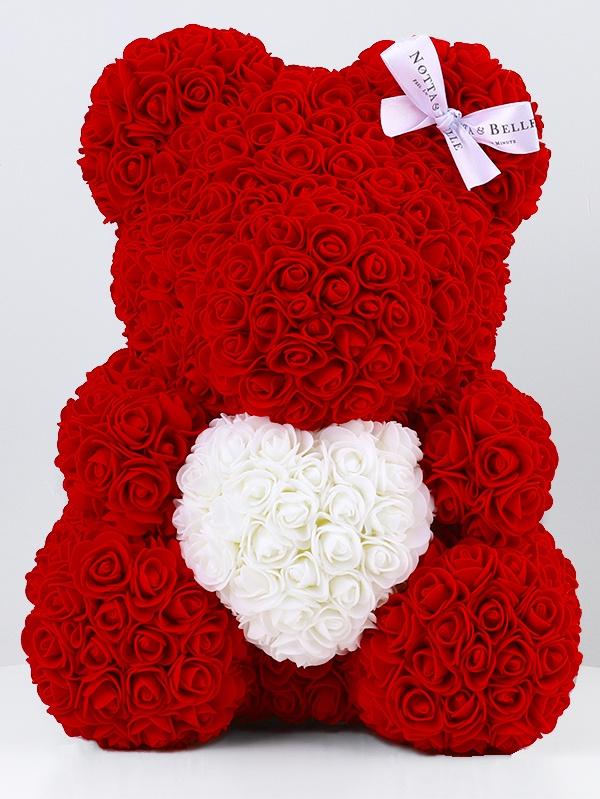 Фигурка декоративная Notta & Belle Мишка из роз 35 см