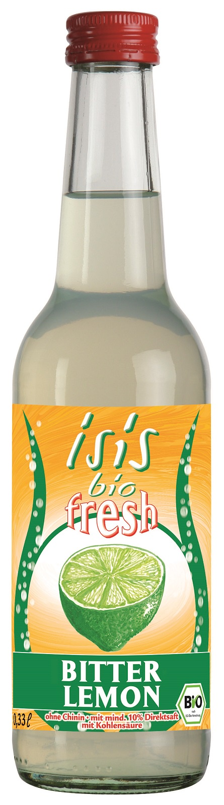 ISIS Bio Напиток сокосодержащий Лимон газированный, стеклянная бутылка 330 мл