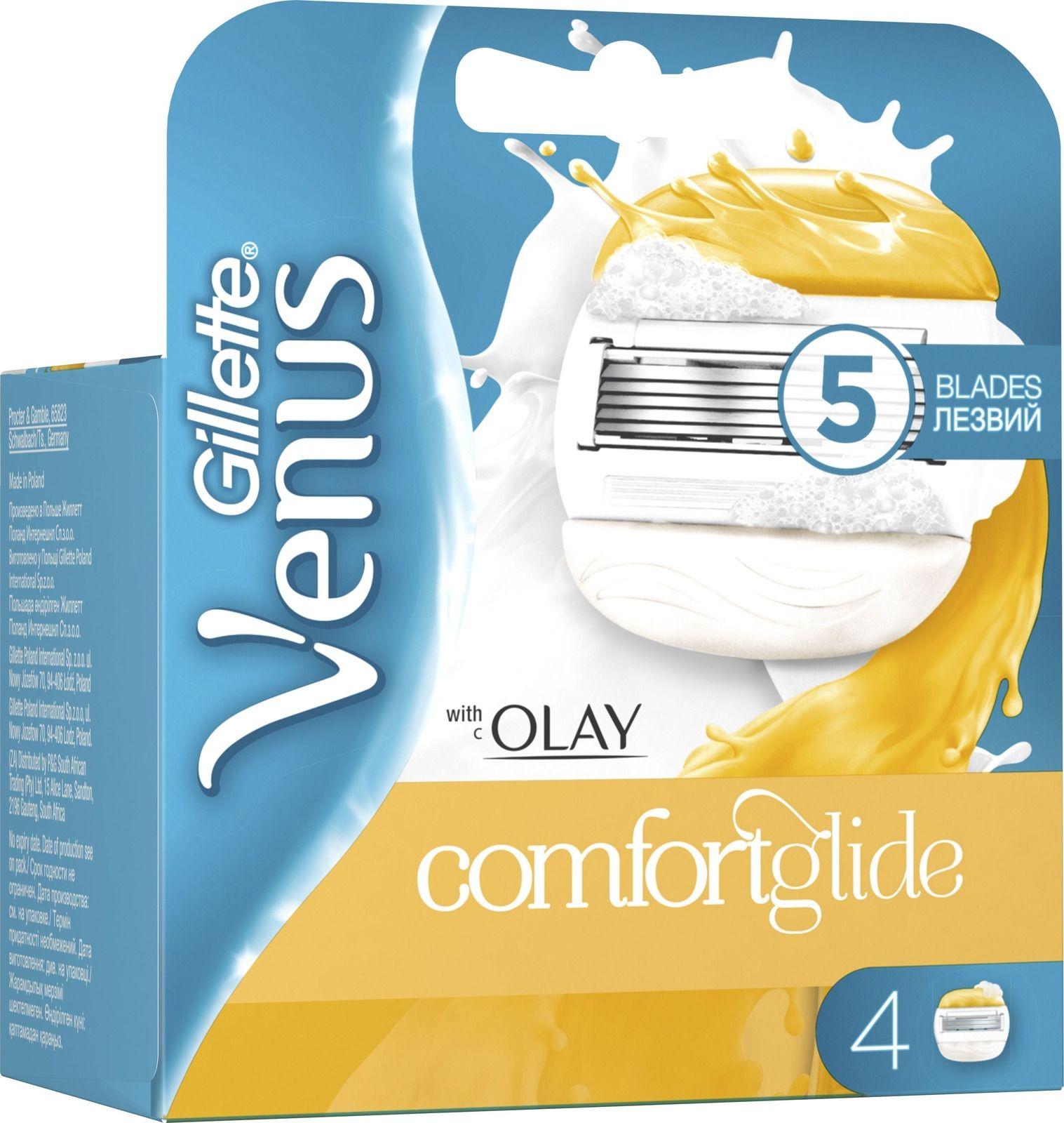 Сменные лезвия Gillette Venus Olay 4 шт gillette venus 2 шт