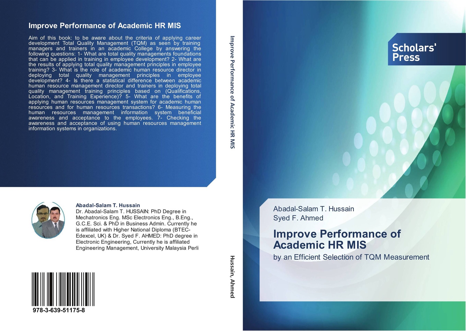 Abadal-Salam T. Hussain and Syed F. Ahmed Improve Performance of Academic HR MIS abadal salam t hussain measurement techniques of total quality management tqm