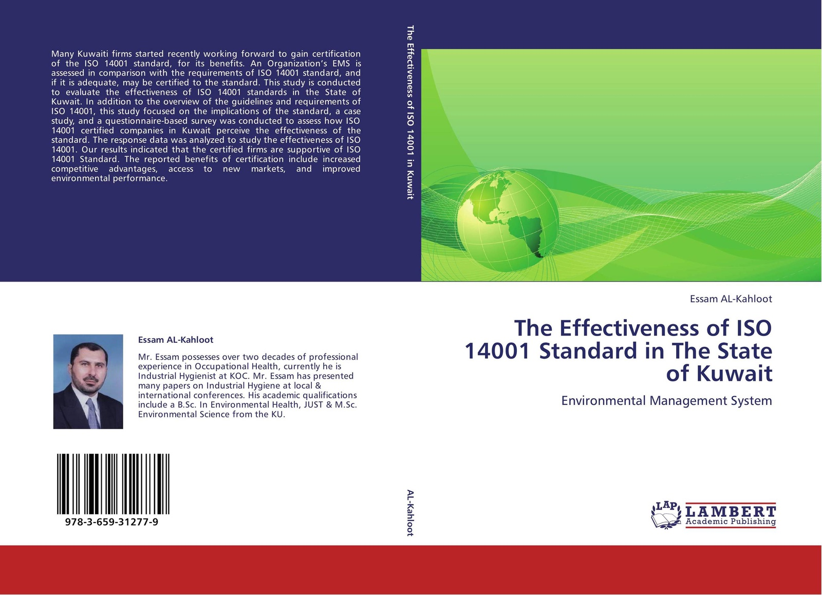 Essam AL-Kahloot The Effectiveness of ISO 14001 Standard in The State of Kuwait 2015版iso 14001环境管理体系内审员培训教程