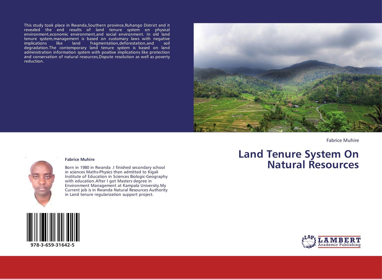 Fabrice Muhire Land Tenure System On Natural Resources недорго, оригинальная цена