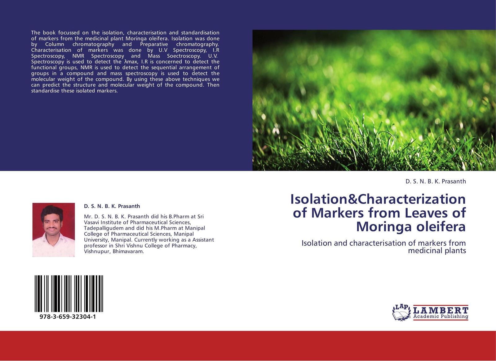 D. S. N. B. K. Prasanth Isolation&Characterization of Markers from Leaves of Moringa oleifera robert henry j molecular markers in plants