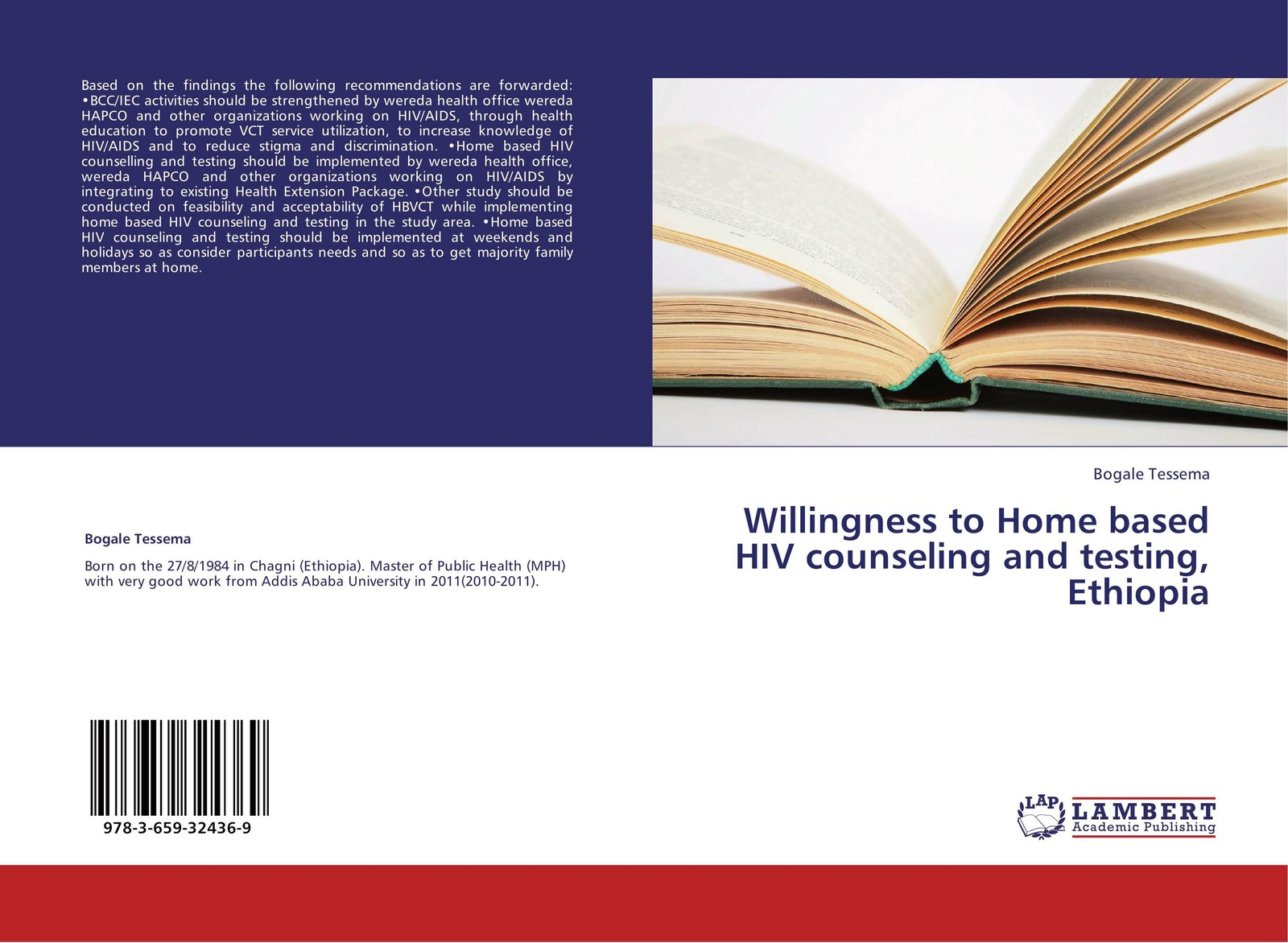 Bogale Tessema Willingness to Home based HIV counseling and testing, Ethiopia mental health and hiv aids