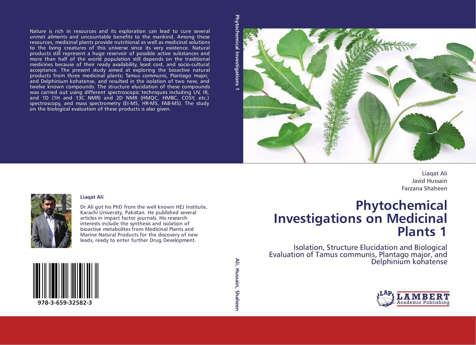 Liaqat Ali,Javid Hussain and Farzana Shaheen Phytochemical Investigations on Medicinal Plants 1 цена