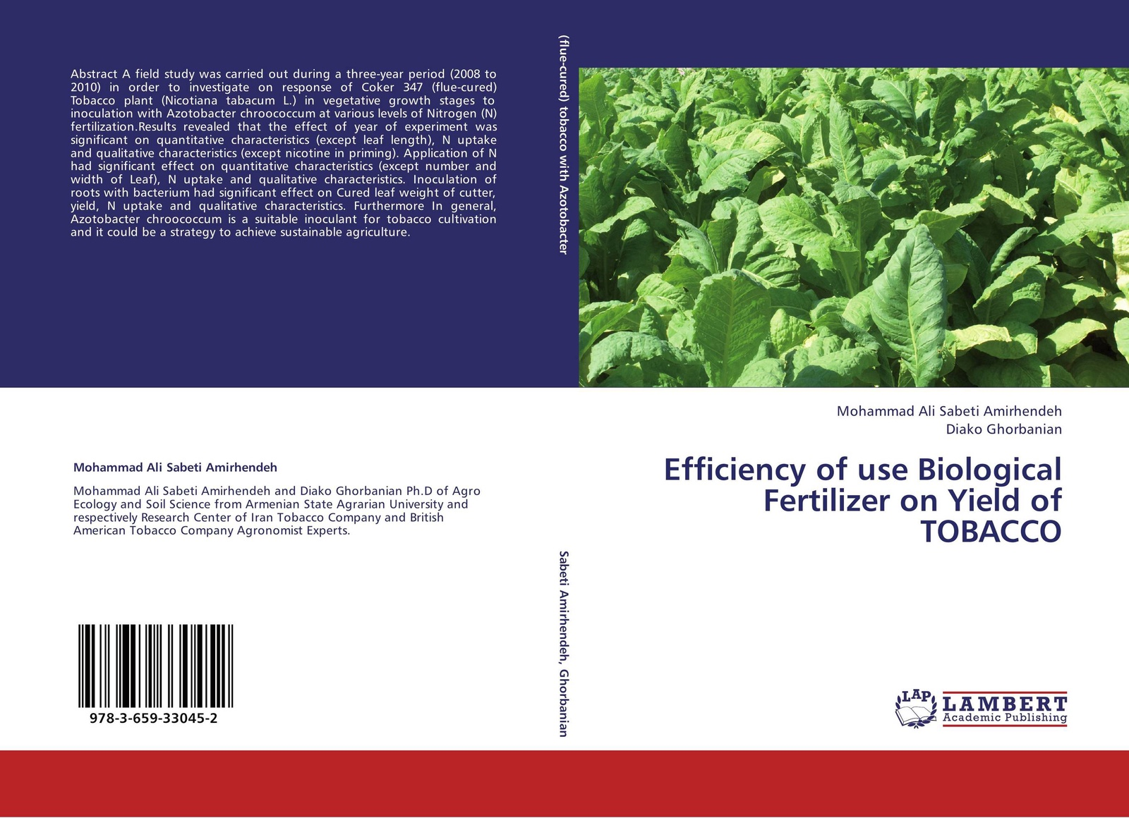 Mohammad Ali Sabeti Amirhendeh and Diako Ghorbanian Efficiency of use Biological Fertilizer on Yield of TOBACCO mohamed aymen elouaer maher souguir and cherif hannachi effect of nacl priming on germination behavior of fenugreek