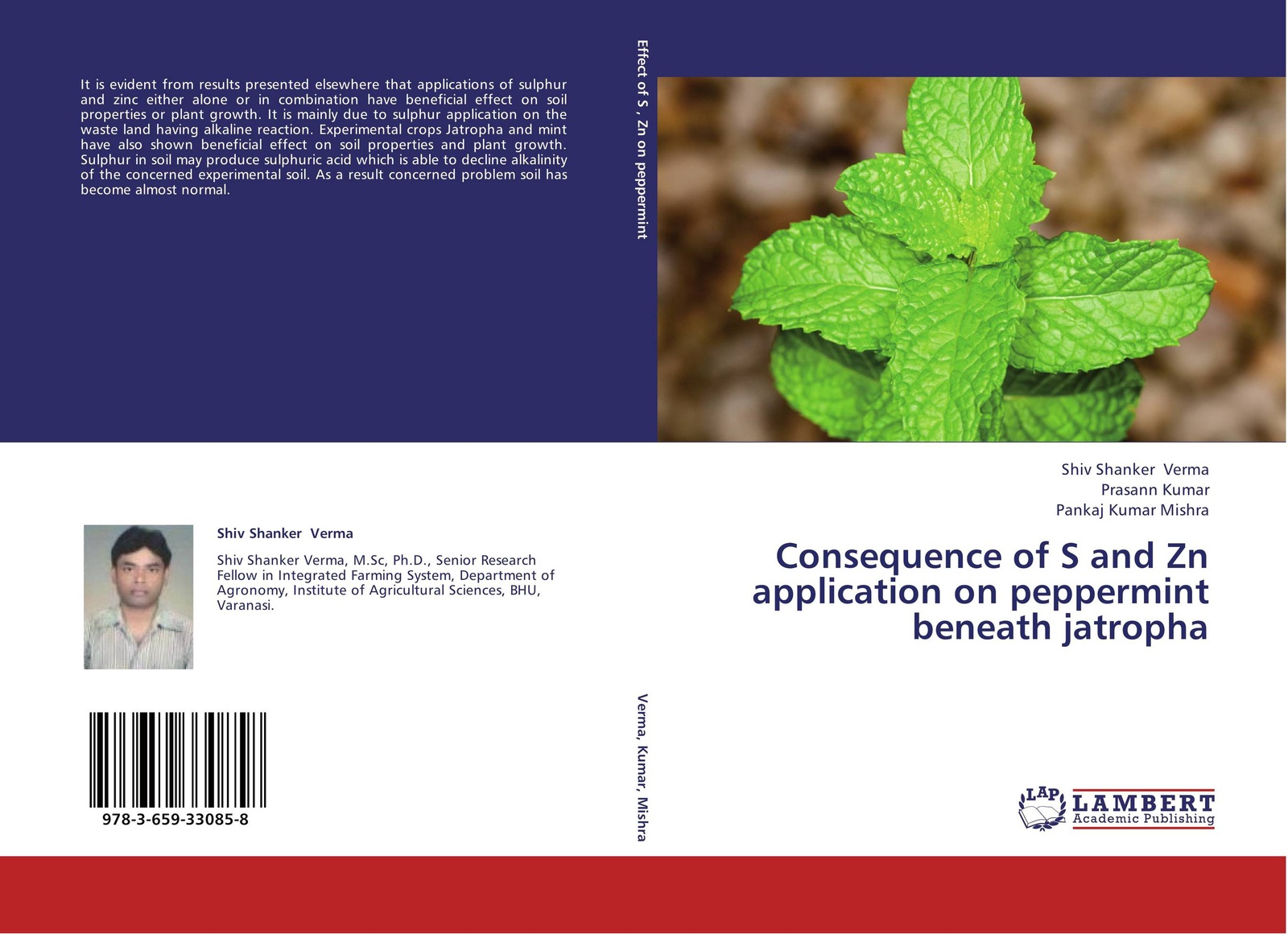 Shiv Shanker Verma,Prasann Kumar and Pankaj Kumar Mishra Consequence of S and Zn application on peppermint beneath jatropha недорого