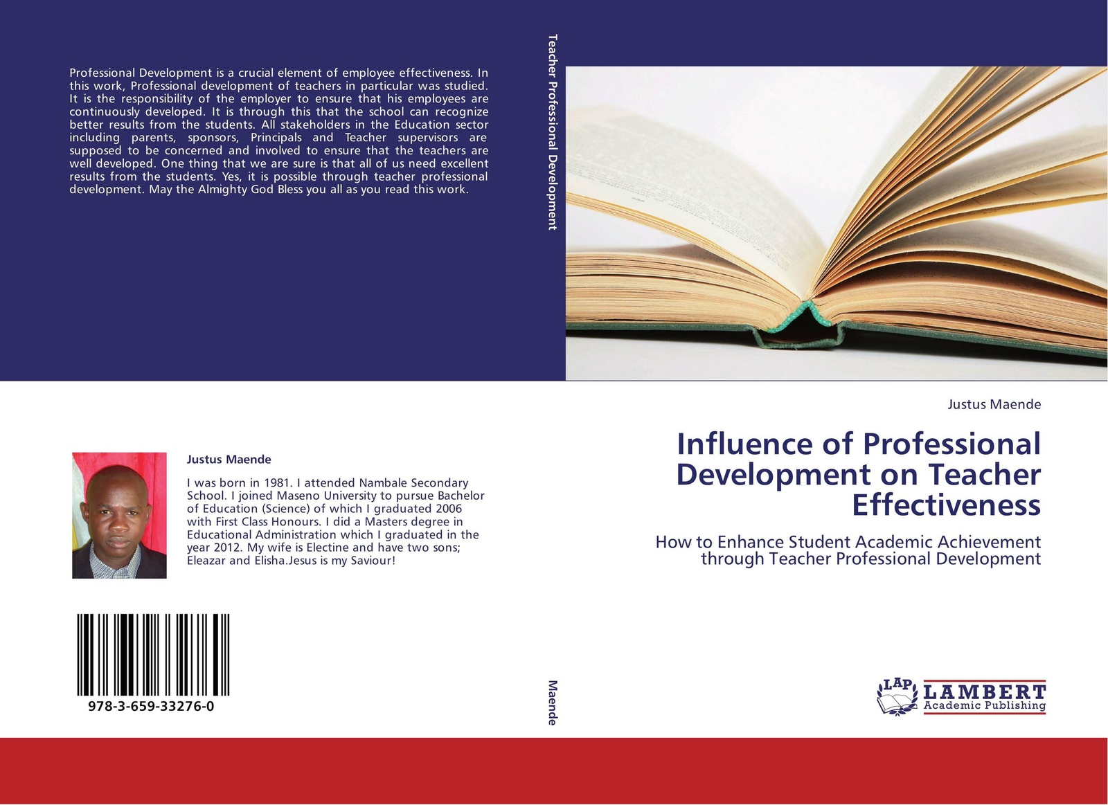 Фото - Justus Maende Influence of Professional Development on Teacher Effectiveness the influence of head teacher evaluation on their professional growth