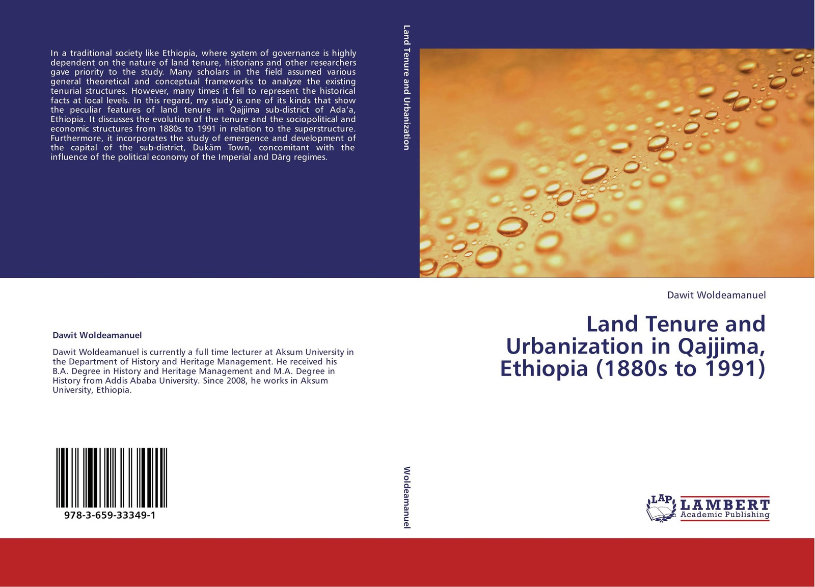 Dawit Woldeamanuel Land Tenure and Urbanization in Qajjima, Ethiopia (1880s to 1991) недорго, оригинальная цена