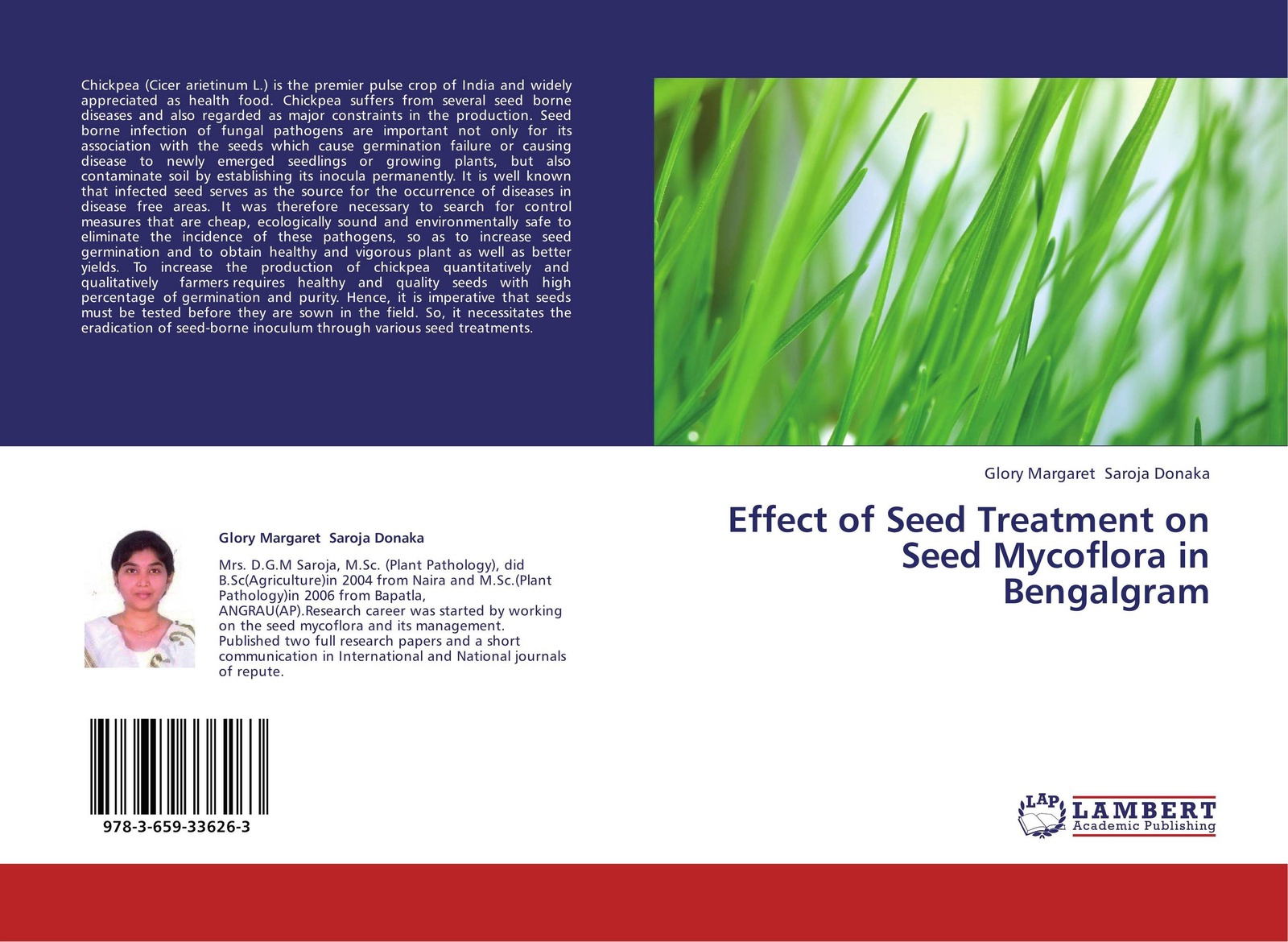Glory Margaret Saroja Donaka Effect of Seed Treatment on Seed Mycoflora in Bengalgram mohd sayeed akhtar biocontrol of root rot disease complex of chickpea
