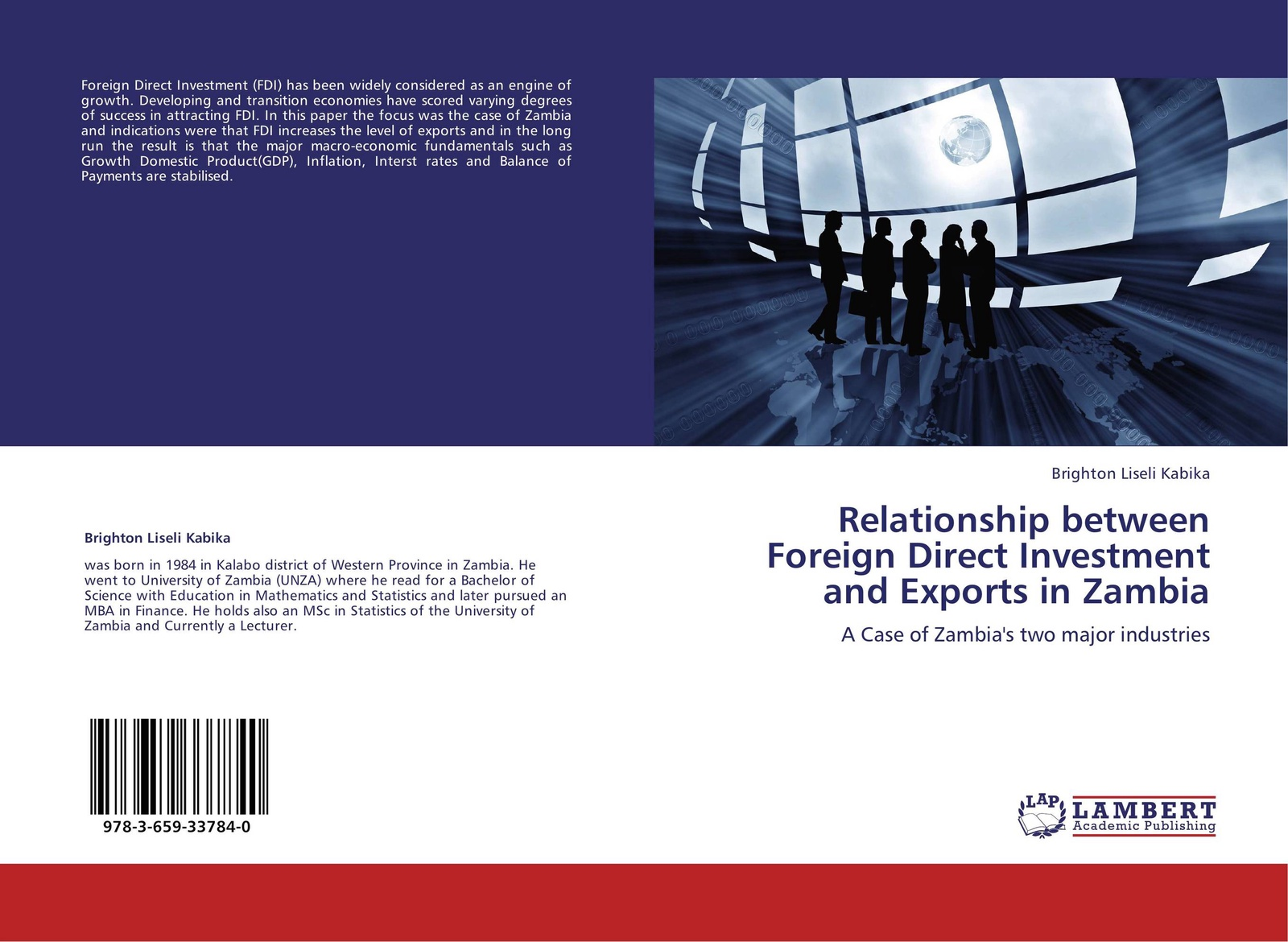 Brighton Liseli Kabika Relationship between Foreign Direct Investment and Exports in Zambia andreas epperlein foreign direct investment in ireland under consideration of the financial services sector in particular