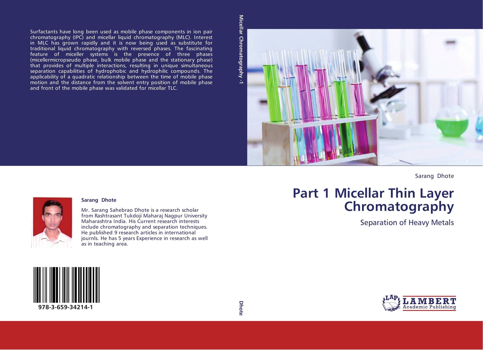 Sarang Dhote Part 1 Micellar Thin Layer Chromatography mark vitha f hydrophilic interaction chromatography a guide for practitioners