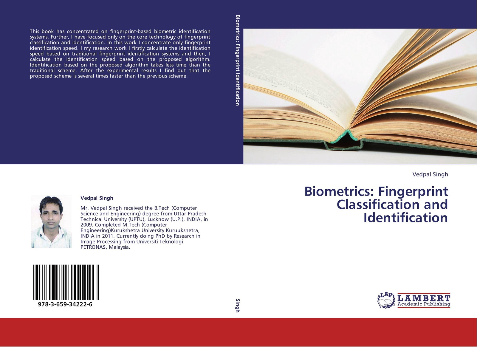 Фото - Vedpal Singh Biometrics: Fingerprint Classification and Identification f6 free shipping abs wiegand rfid card biometric fingerprint reader access control system 500 fingerprint 500 card and 500 pin