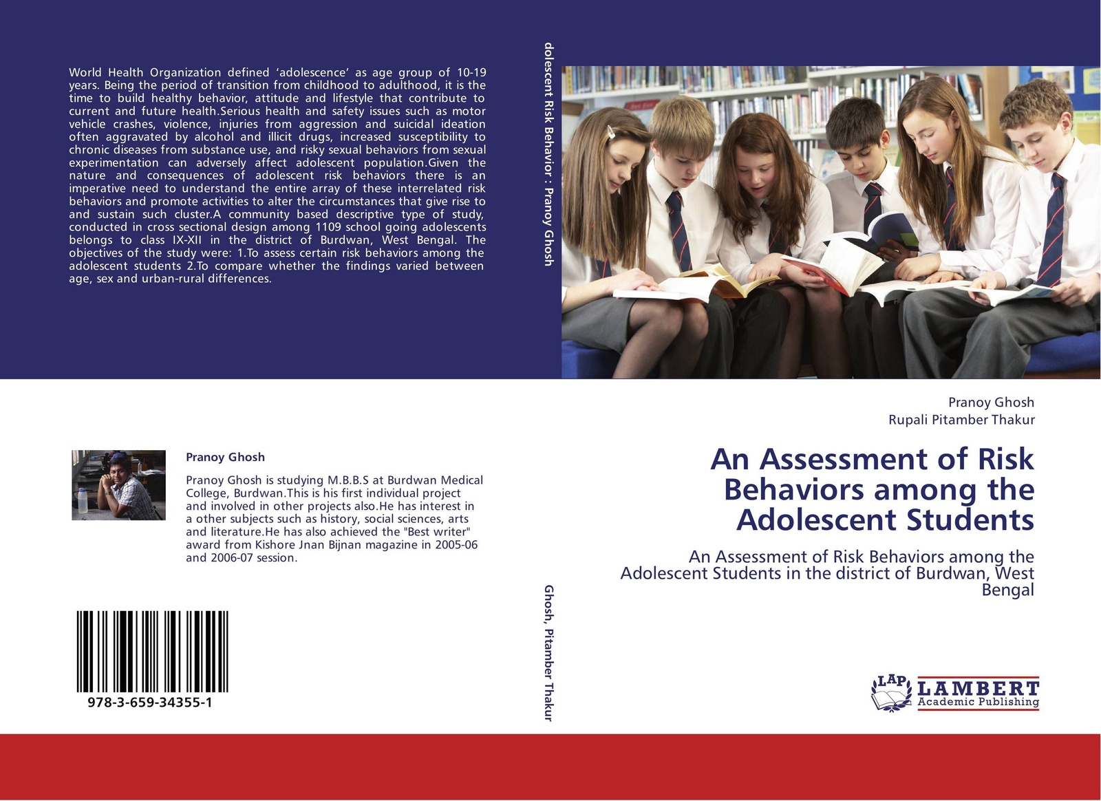 Pranoy Ghosh and Rupali Pitamber Thakur An Assessment of Risk Behaviors among the Adolescent Students все цены