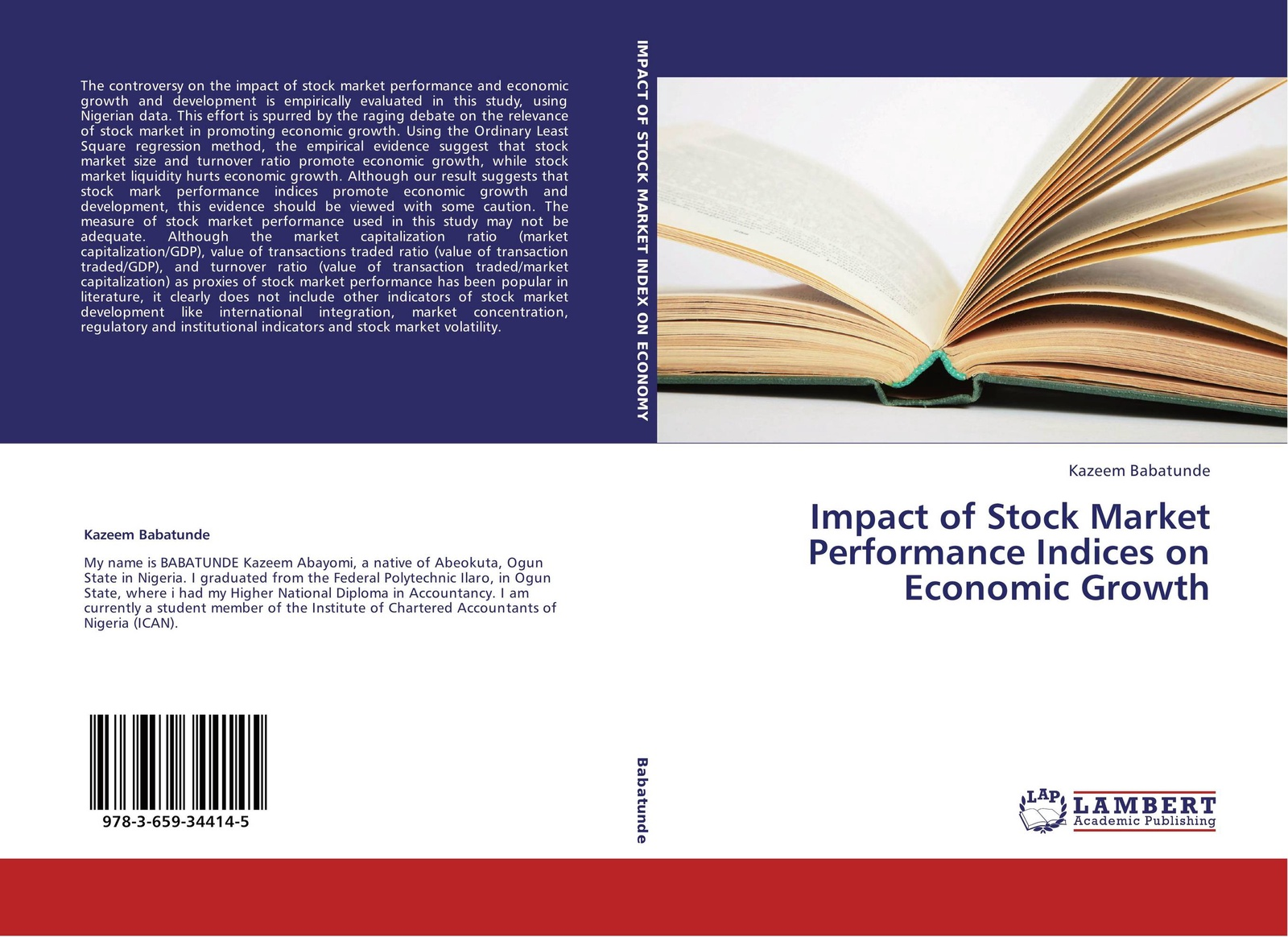 Фото - Kazeem Babatunde Impact of Stock Market Performance Indices on Economic Growth dhl in stock lepin 21007 1351pcs out of
