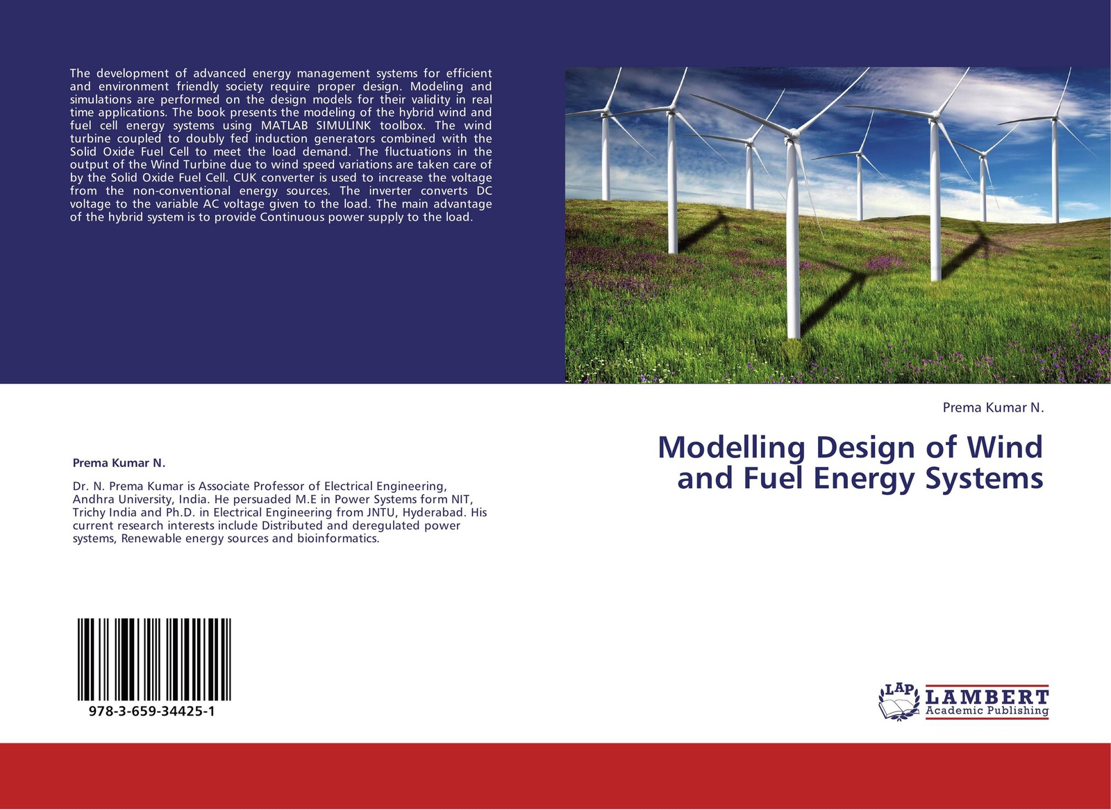 Prema Kumar N. Modelling Design of Wind and Fuel Energy Systems modeling energy–economy interactions