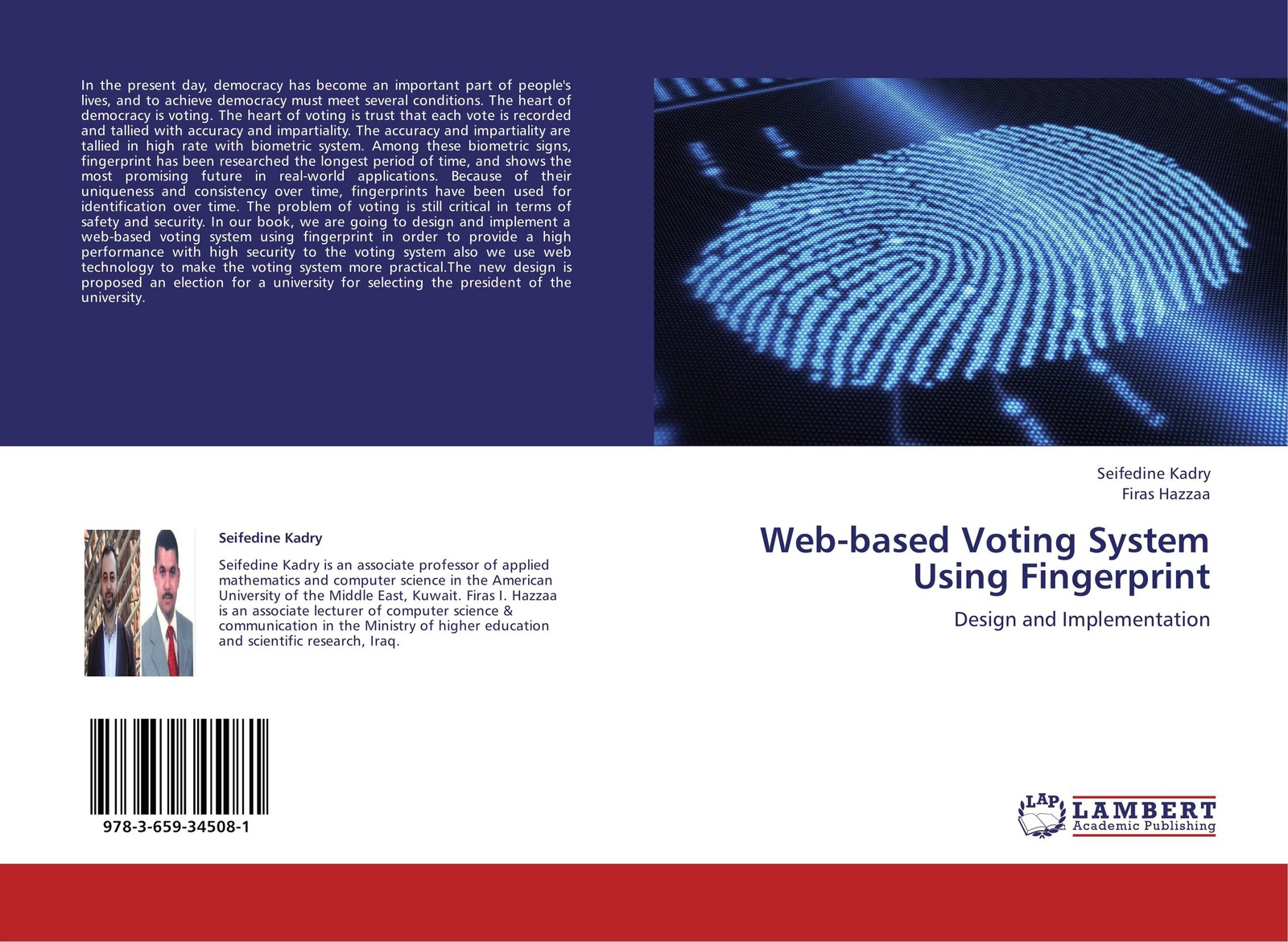 Фото - Seifedine Kadry and Firas Hazzaa Web-based Voting System Using Fingerprint f6 free shipping abs wiegand rfid card biometric fingerprint reader access control system 500 fingerprint 500 card and 500 pin
