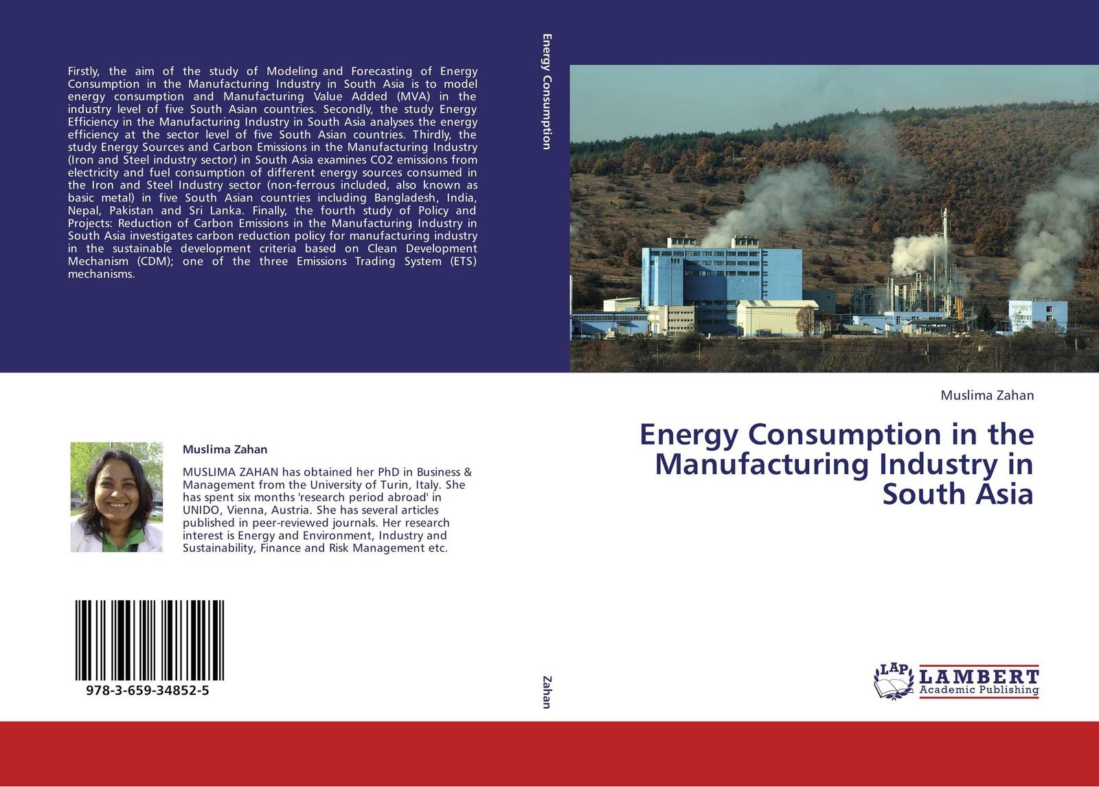цены на Muslima Zahan Energy Consumption in the Manufacturing Industry in South Asia  в интернет-магазинах