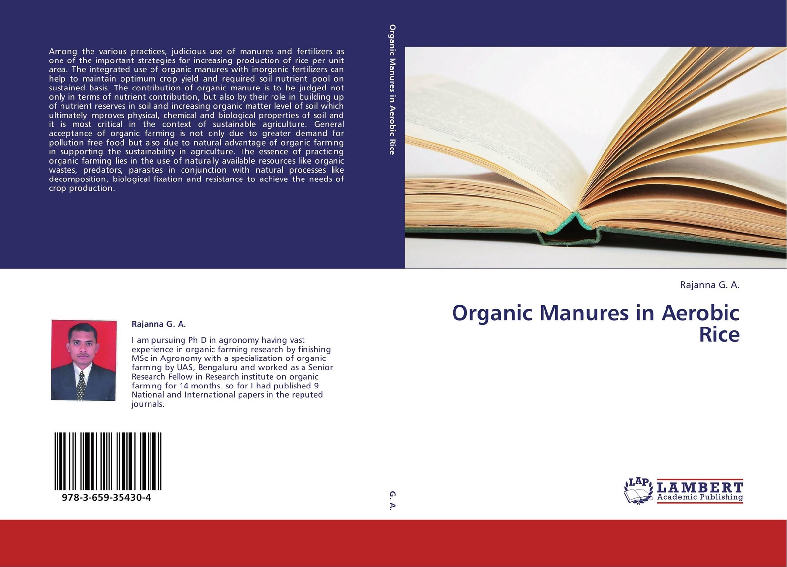 Rajanna G. A. Organic Manures in Aerobic Rice цены