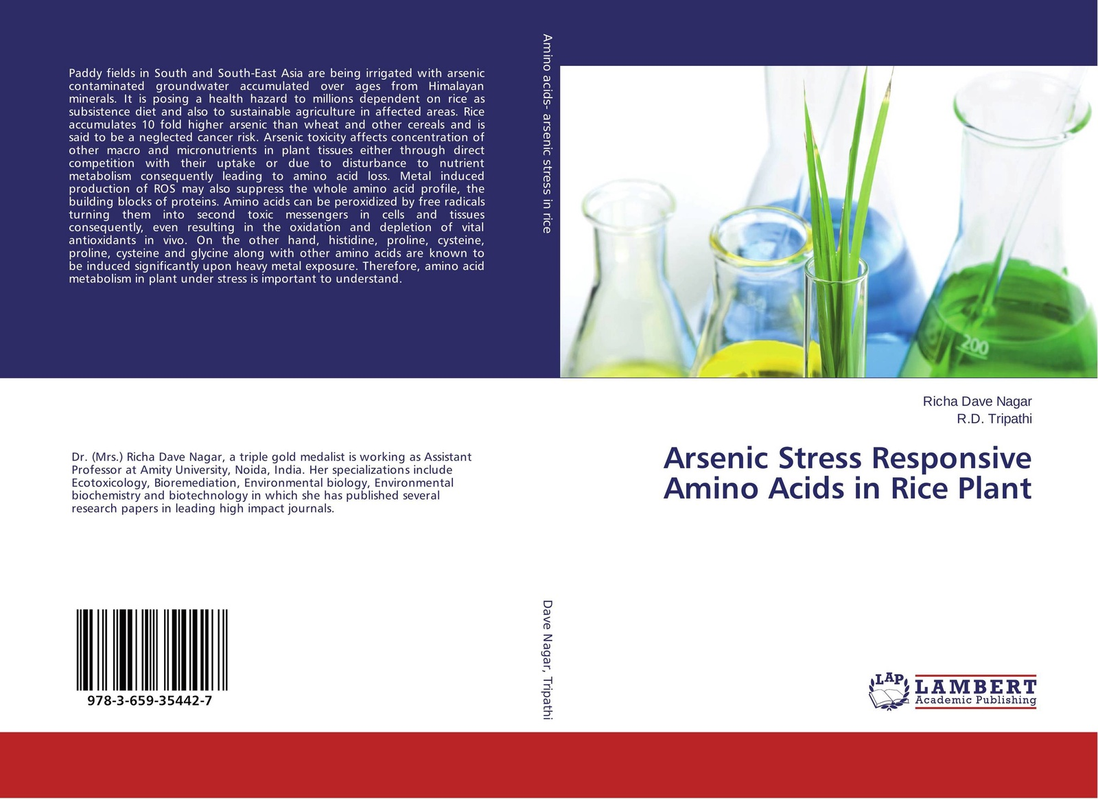 Richa Dave Nagar and R.D. Tripathi Arsenic Stress Responsive Amino Acids in Rice Plant j states christopher arsenic exposure sources health risks and mechanisms of toxicity