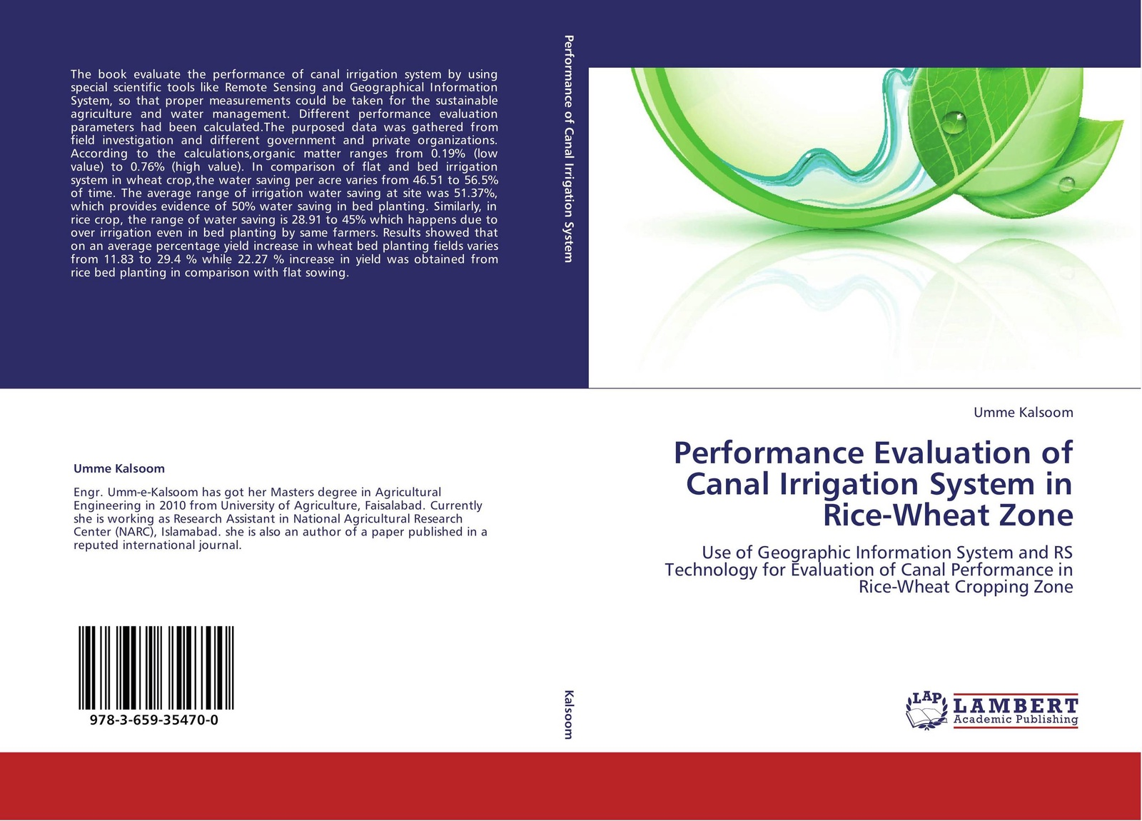 Фото - Umme Kalsoom Performance Evaluation of Canal Irrigation System in Rice-Wheat Zone the bed of procrustes