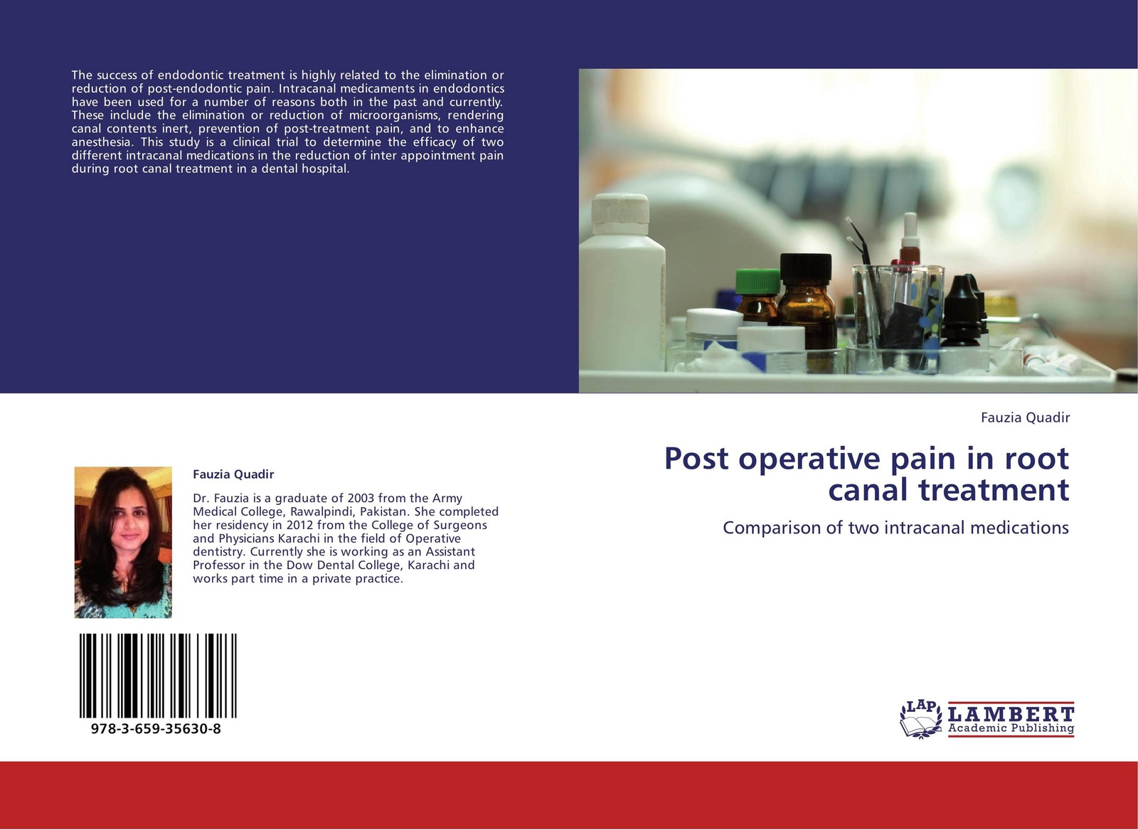 Fauzia Quadir Post operative pain in root canal treatment assessment and treatment of post burn itching
