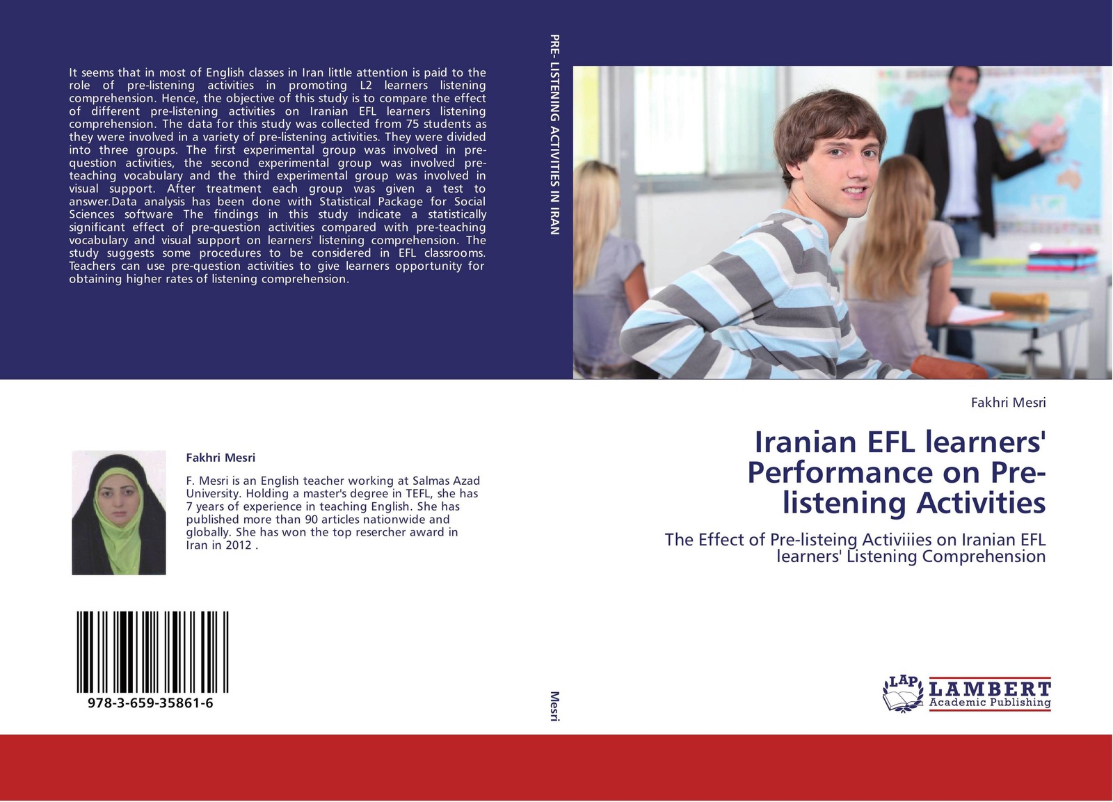 Fakhri Mesri Iranian EFL learners' Performance on Pre-listening Activities цена