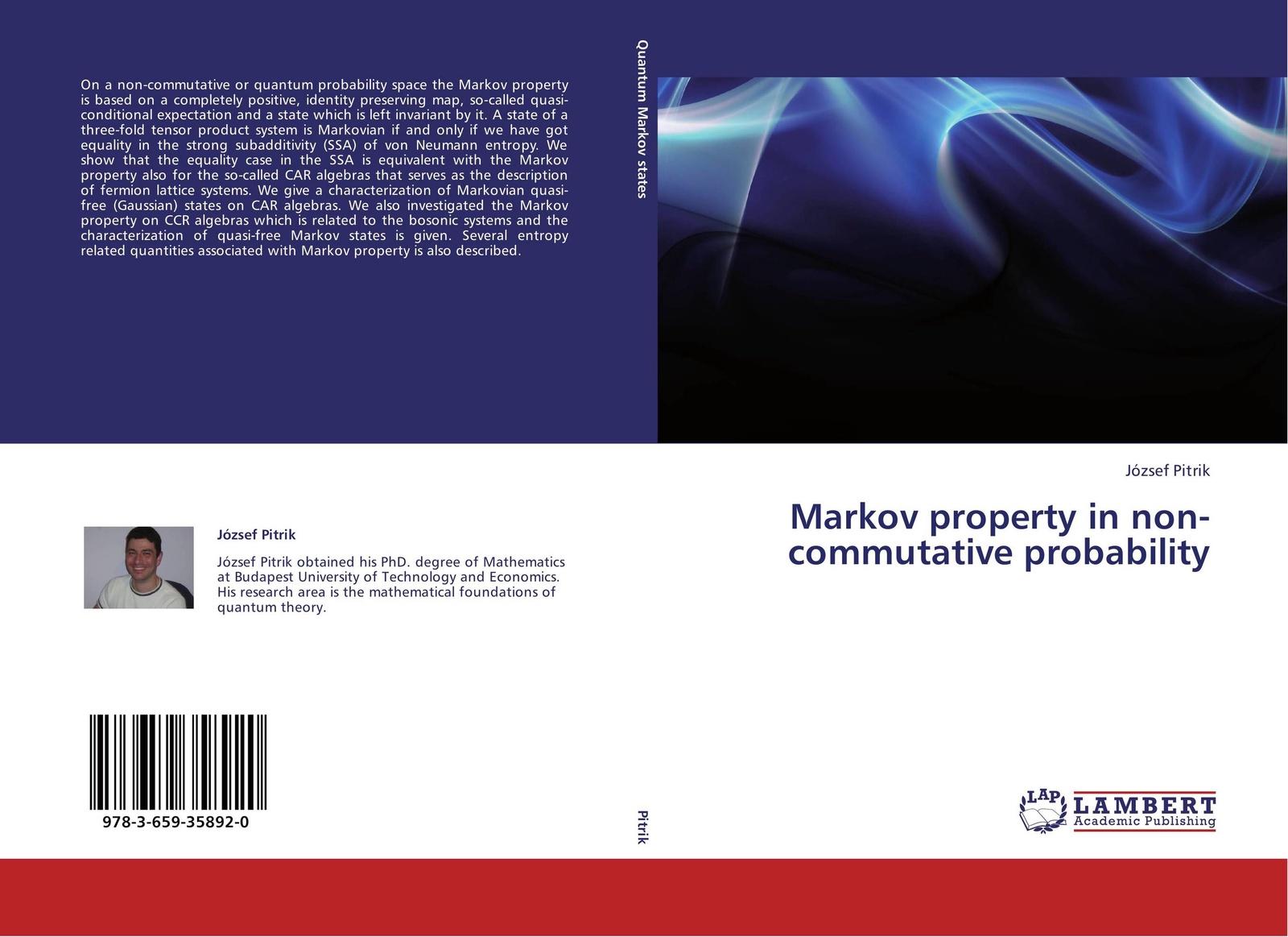 József Pitrik Markov property in non-commutative probability брошь markov design ананас