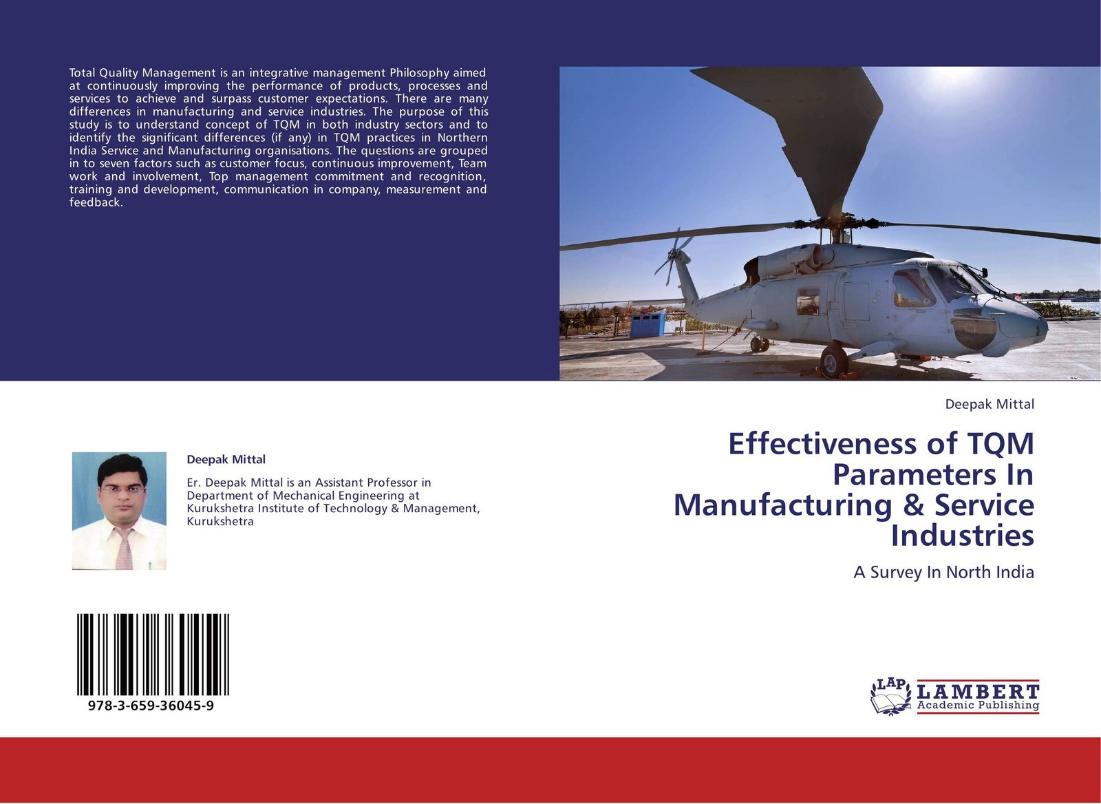 Deepak Mittal Effectiveness of TQM Parameters In Manufacturing & Service Industries abadal salam t hussain measurement techniques of total quality management tqm