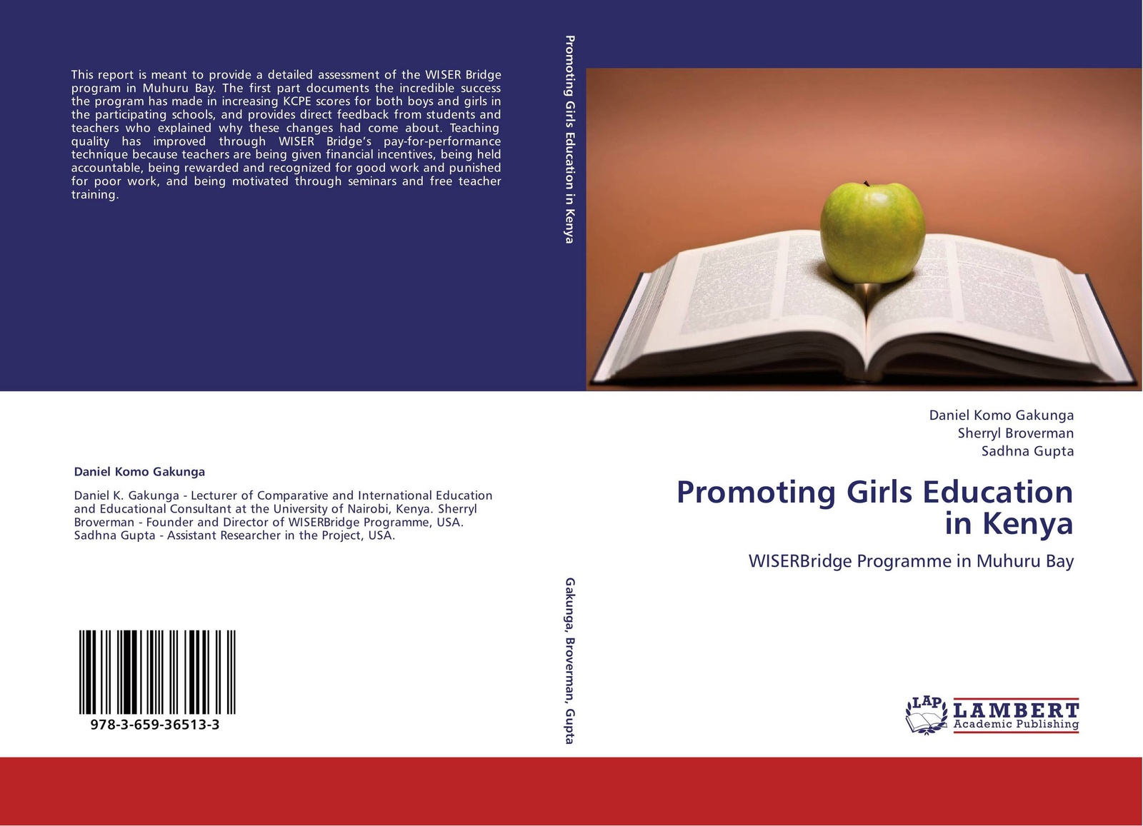 DANIEL KOMO GAKUNGA,Sherryl Broverman and Sadhna Gupta Promoting Girls Education in Kenya karanja david gakunga daniel komo teachers efficacy in the implementation of inclusive education