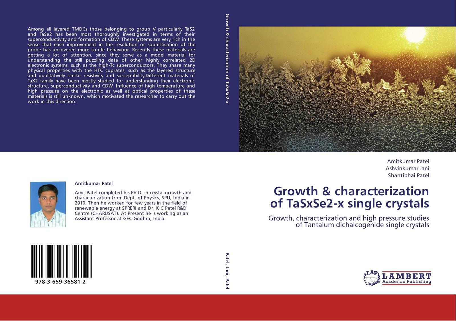 цены на Amitkumar Patel,Ashvinkumar Jani and Shantibhai Patel Growth & characterization of TaSxSe2-x single crystals  в интернет-магазинах