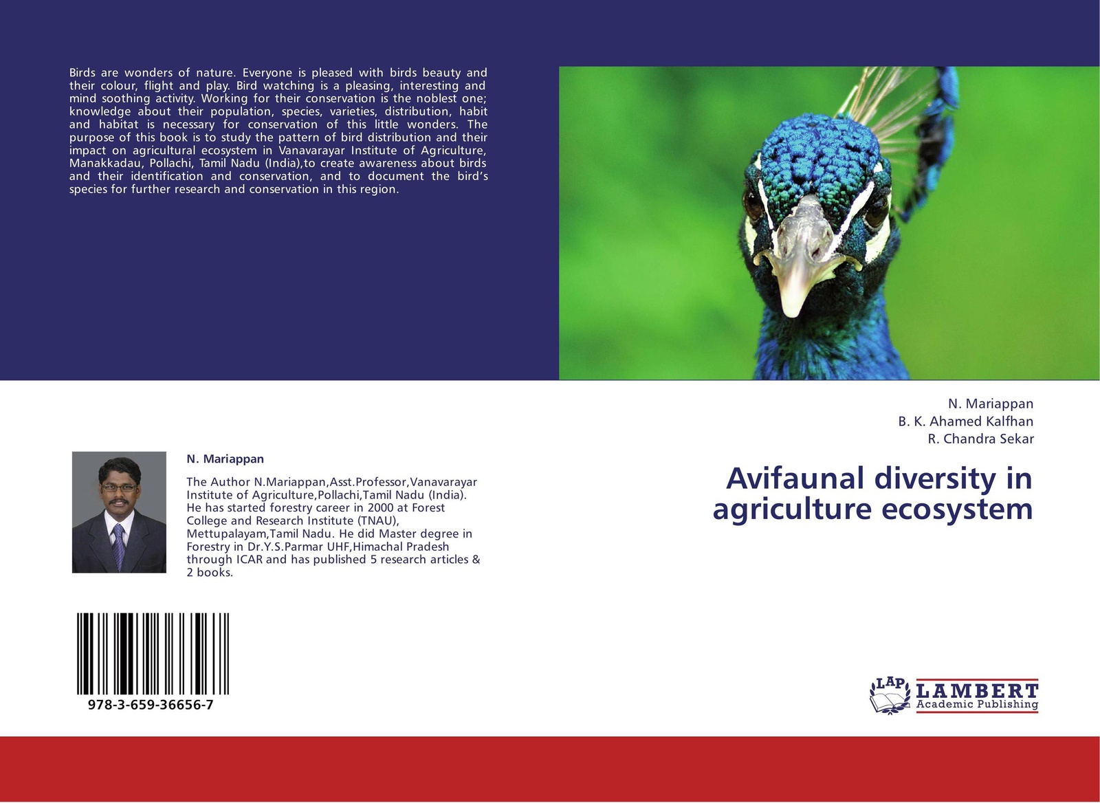 N. Mariappan,B. K. Ahamed Kalfhan and R. Chandra Sekar Avifaunal diversity in agriculture ecosystem conservation of swamp deer in terai grassland of northern india