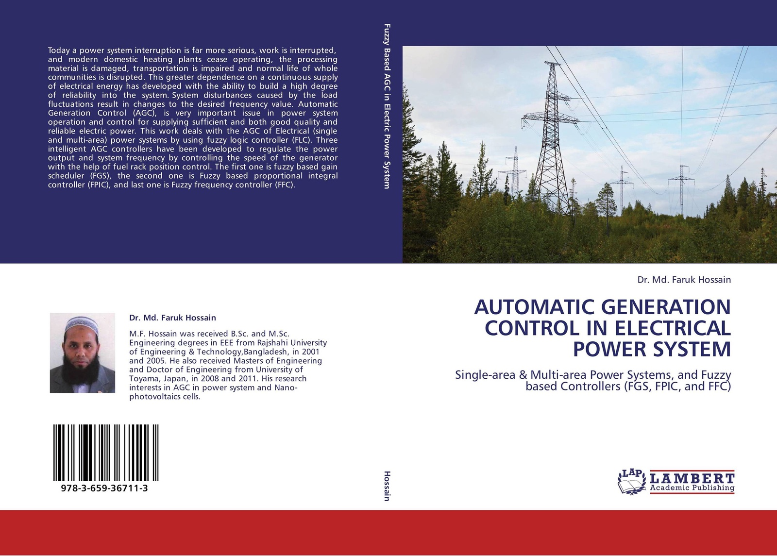 Dr. Md. Faruk Hossain AUTOMATIC GENERATION CONTROL IN ELECTRICAL POWER SYSTEM mohammad shahidehpour handbook of electrical power system dynamics modeling stability and control